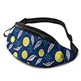 XCNGG Bolso de Cintura Corriente Bolso de Cintura de Ocio Bolso de Cintura Bolso de Cintura de Moda Casual Waist Bag Golden Lemon For Men Women Running Travel Fashionable Fanny Pack