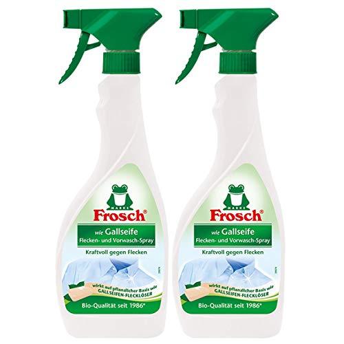 2x Frosch wie Gallseife Fleck-Entferner und Vorwasch Spray 500 ml Sprühflasche