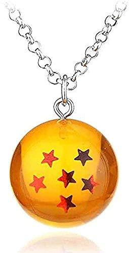 Collar de Anime Goku Dragon Ball Super collar colgante de encanto 3D estrella Cosplay llavero de bola de cristal niñas collar de niños