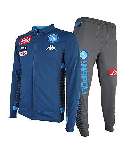 Kappa heren pak van Napoli in grijs en 304MH90 blauwe stof