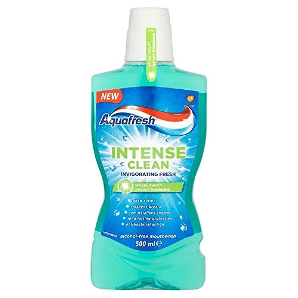 摂氏できれば漂流アクアフレッシュ強烈なきれいな爽快ウォッシュ500ミリリットル x4 - Aquafresh Intense Clean Invigorating Wash 500ml (Pack of 4) [並行輸入品]