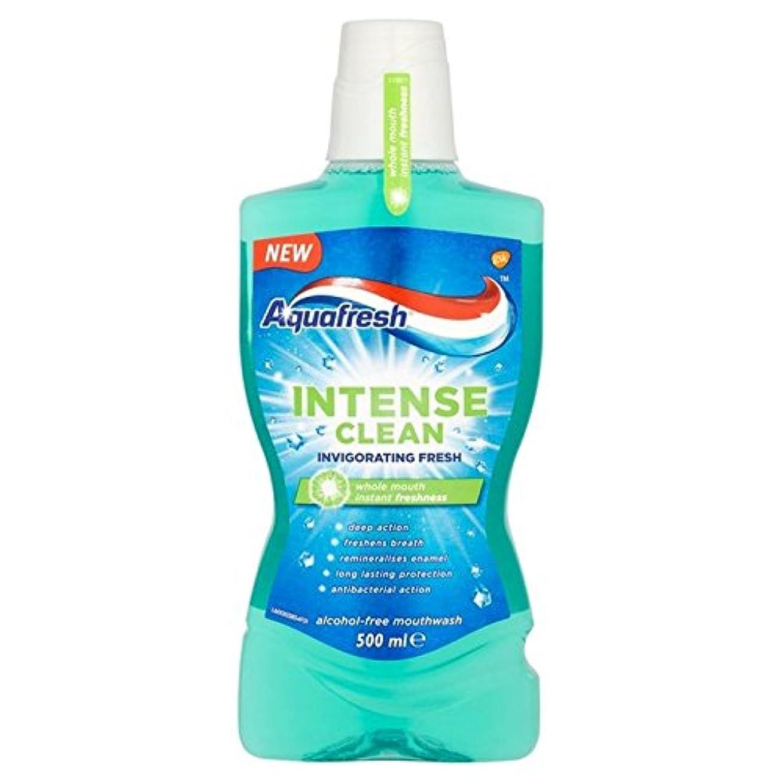 固有の判決持つAquafresh Intense Clean Invigorating Wash 500ml - アクアフレッシュ強烈なきれいな爽快ウォッシュ500ミリリットル [並行輸入品]
