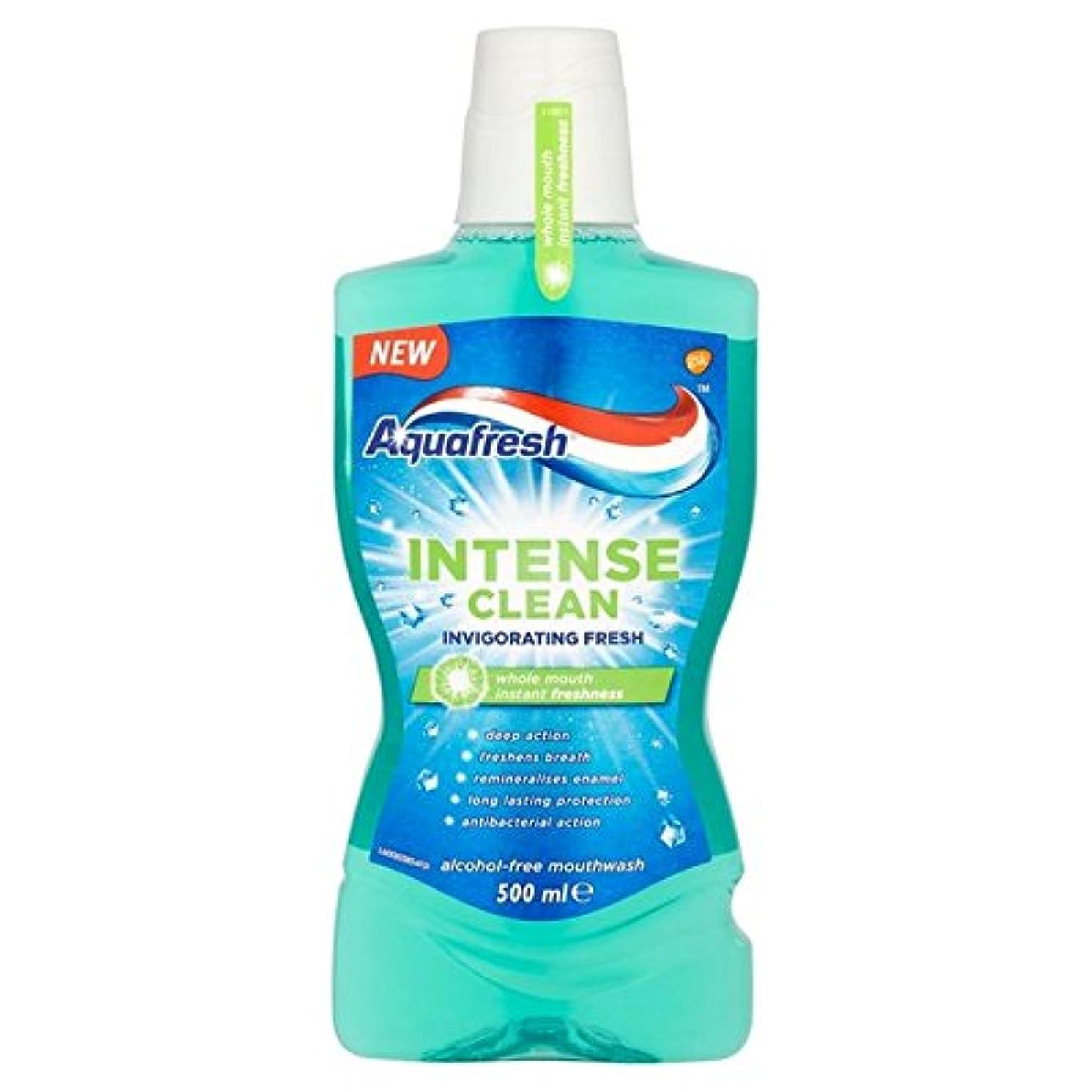 説明的鎮痛剤イソギンチャクアクアフレッシュ強烈なきれいな爽快ウォッシュ500ミリリットル x4 - Aquafresh Intense Clean Invigorating Wash 500ml (Pack of 4) [並行輸入品]