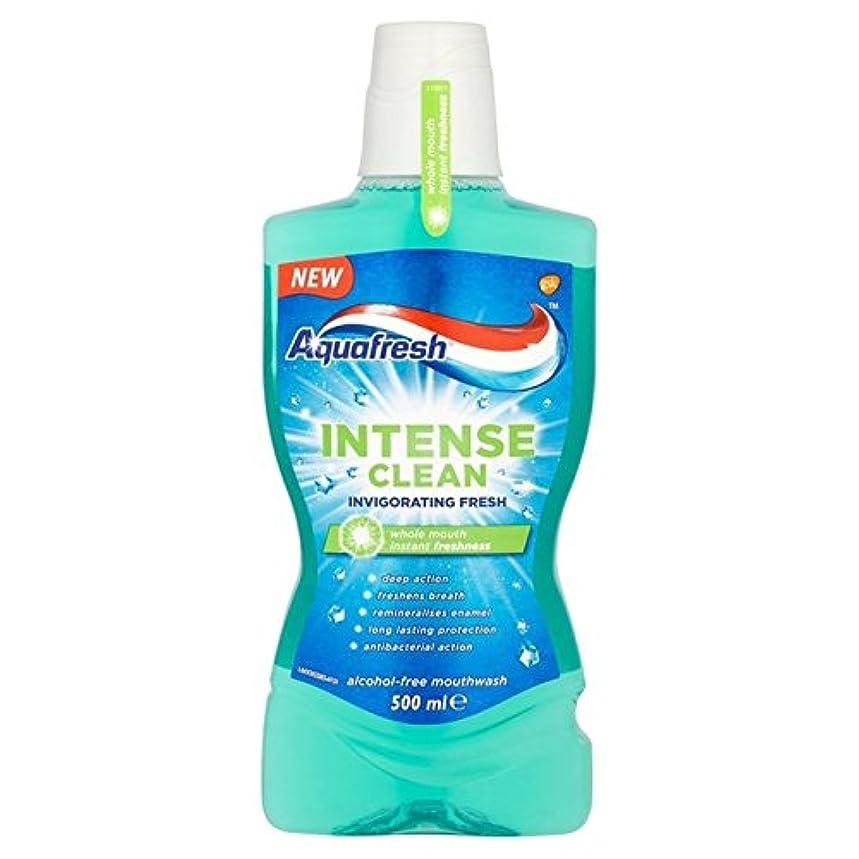 不和パーツワックスアクアフレッシュ強烈なきれいな爽快ウォッシュ500ミリリットル x2 - Aquafresh Intense Clean Invigorating Wash 500ml (Pack of 2) [並行輸入品]
