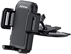 CONVENIENT FOR GPS NAVIGATION AND CALL- MPOW car phone mountsare essential to keep car drivers safe on the road by allowing drivers to keep both hands on the wheel and keep an eye on GPS navigation. The cell phone car mounts reduce the likelihood of...