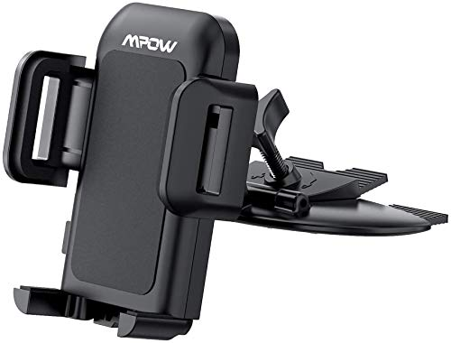 Mpow 051 Car Phone Mount, CD Slot Car Phone Holder, Car Mount with Three-Side Grips and One-Touch Design Compatible iPhone 12/12Mini/12Pro/12Pro Max/11 Series/XR/X/8/8Plus, Galaxy S10/20 Series/S9/S9+