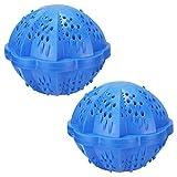 Waschball Waschen ohne Waschmittel nachhaltig Öko Waschkugel für Waschmaschine Wäschekugeln Zwei Packungen Allergikerfreundlich Power Pearls Umweltfreundlich -