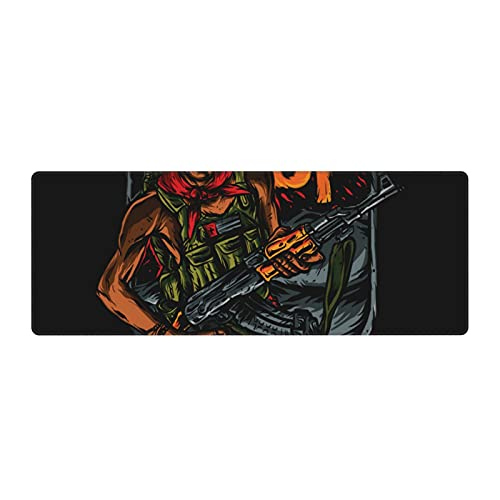 Ruf Rebel Army Large Gaming Mouse pad,, with Non-Slip Base (11.8x31.5 inches), Comfortable, Foldable, Suitable for desktops, laptops, Keyboards, etc.