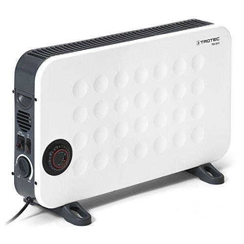 TROTEC Convettore di design TCH 26 E Termoconvettore 2000 W con comando da termostato, Tecnologia a Basso Consumo Energetico, Tre livelli di riscaldamento, Timer in formato 24 ore