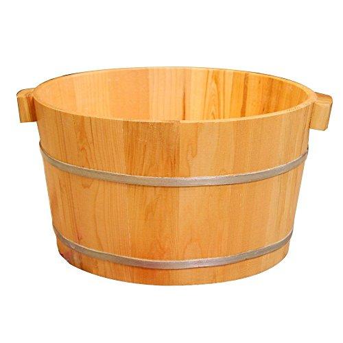 FAP Bain de Pied de Seau de Pied de Sauna de Pin de Maison avec la Cuve en Bois de Pied de B, Bois Couleur 1, a