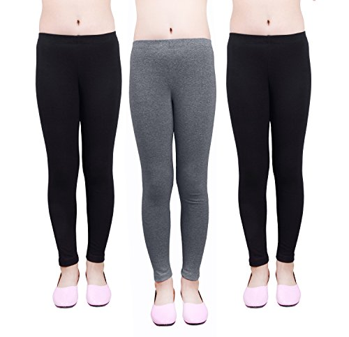 IRELIA Girls Leggings 3 Pack Modal Solid Size 4-16 Spring/Fall 06 L
