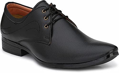 Aaravin's Men Synthetic Formal Derby Shoes(Beige)