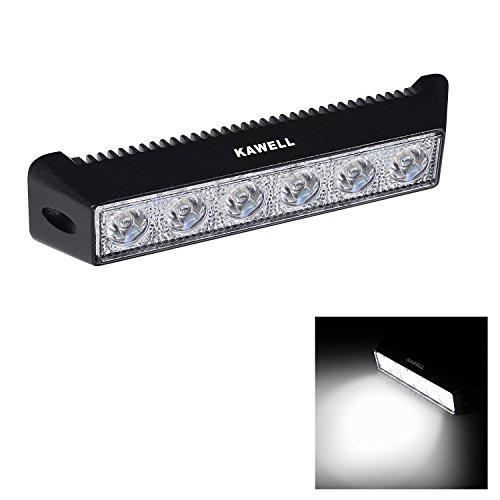 KAWELL 18W LED Barra 4x4s Faro Antiniebla LED Luz de Trabajo Tractor Luz Lámpara Foco Impermeable para Coche Quad camión Barco