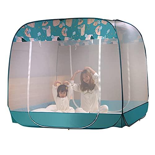 Mosquitera Cama Individual/Cama Doble Mosquitera, Mosquitera Que Acampa Al Aire Libre, Mosquitera De Instalación Gratuita para El Hogar (Size : 1.5x1.95x1.7m)
