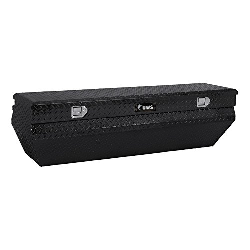 UWS TBC-62-WN-BLK Wedge Chest Aluminum Box with Black Notched Beveled Insulated Lid