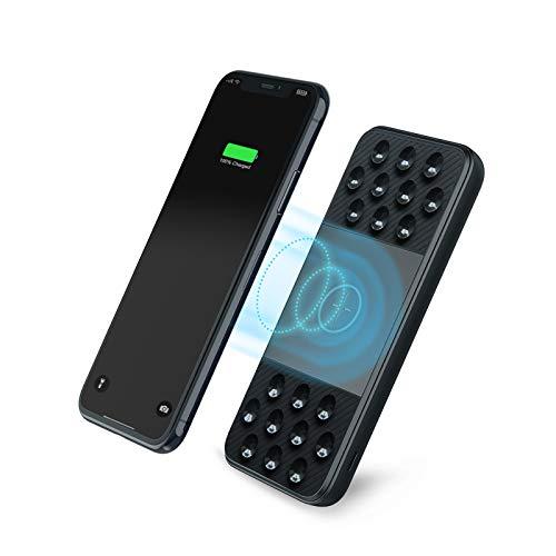 Charmast Powerbank Wireless 10000mAh Carica Rapida USB C 18W PD & USB A QC 3.0 Caricatore Portatile induzione con Ventosa Power Bank Batteria con 3 Ingressi & 3 uscite per iPhone11/XR,Samsung