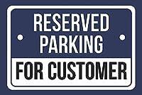 顧客のための予約駐車場ブリキの看板壁の装飾金属ポスターレトロなプラーク警告看板オフィスカフェクラブバーの工芸品