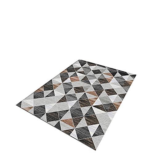 IRCATH Grigio Nero Triangolo Modello Semplice Moda Soggiorno Divano Camera da Letto corridoio Decorazione della casa tappeto-100x200cm. Morbido Tappeto Antiscivolo Tappeto per Camera da Letto