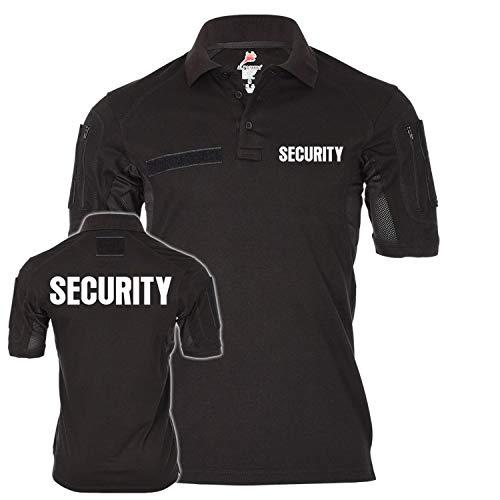 Tactical Polo Security Sicherheitsdienst Ordner Shirt Uniform Bekleidung Objektschutz Wachschutz Wachdienst #21618, Größe:XL, Farbe:Schwarz