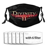 Divinity Original Sin 2 Logo Adjustable Earloop Face Mouth Anti Pollution Washable with 6 Filters