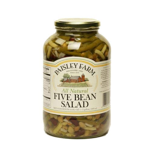 Paisley Farm All Natural Five Bean Salad - 64oz - CASE PACK OF 4