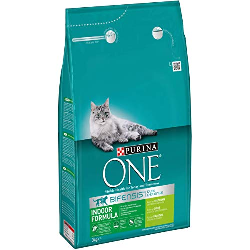 Purina ONE BIFENSIS Indoor Formula Katzentrockenfutter,4er Pack (4 x 3 kg)
