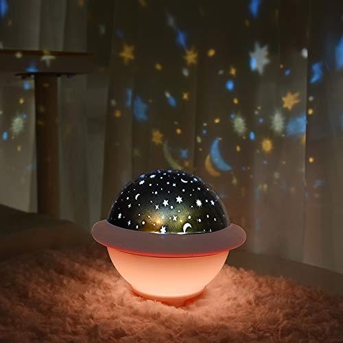 LED-projectorlamp, voeding, projectorlamp, helderheid verstelbaar, 6 kleuren, nachtlampje, baby-sterren, voor kinderen/cadeau