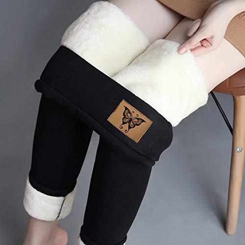jessboyy Leggings Térmicos Pantalones Mujer Invierno, Leggings de Cintura Alta para Mujer, Elásticos Forrado de Terciopelo Grueso Calientes Bragas Calientes Leggins...