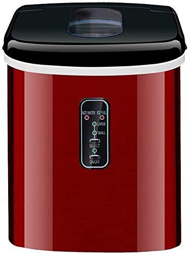 RMXMY Ice Cube Hersteller, New Compact, Vollautomatische, 16KG EIS pro Tag, Producing Eiswürfel in 8 Minuten, Braun, Farbe: Braun