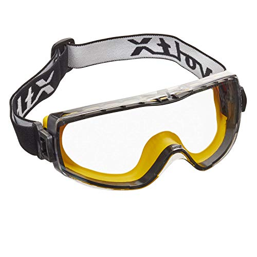 voltX 'DEFENDER COMPACT' UV400 CLEAR LENS SAFETY GOGGLES, ANTI FOG & ANTI SCRATCH COATED