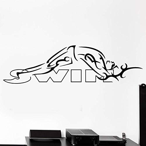 Blrpbc Adhesivos Pared Pegatinas de Pared Vinilo de natación Decoración de natación Mural Decoración del hogar Etiqueta engomada del Coche del Nadador 42x150cm