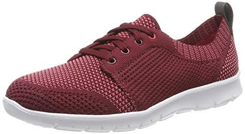 Clarks Step Allenasun, Zapatillas para Mujer, Rojo (Maroon Maroon), 41.5 EU