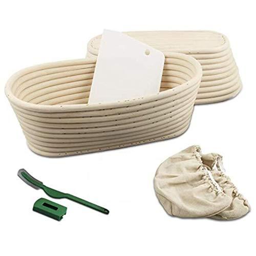 TIZJ 1 Set 10 Inch Bread Proofing Basket-Banneton Proofing Basket-Sourdough Basket Set for Home Bakers Artisan Bread Making