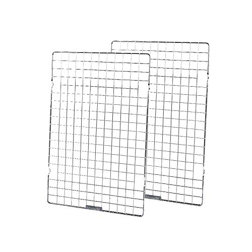 Baking Rack Commercial Grade cooling racks for baking Thick-Wire wire rack bakinges Nontoxic for Roastinges baking rack for oven Safe wire coolings rack Roasting Drying 10'×16'-Set of 2-Silver