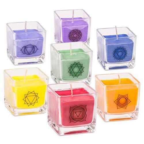 Yogabox - 7 Candele profumate ecologiche Chakra