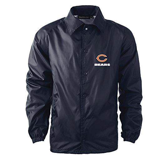 Dunbrooke Apparel Men's Coaches Jacket, Navy, Large, Chicago Bears