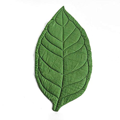 Best Price puseky Leaf Shape Baby Play Mat,Portable Soft Cotton Crawling Carpet Baby Room Decor for ...