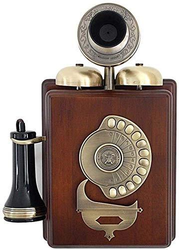 SXRDZ Teléfonos Antiguos con Cable, teléfono Retro Mood sólido Montado en Pared Antiguo Teléfonos clásicos de Tono de Tono clásico para el hogar Oficina de Hotel de Cocina - 37cm * 25 cm * 12 cm