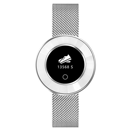 9705 Fitnesstracker voor dames, met hartslagfrequentie, bloeddruk, zuurstof, stappenteller, smartwatch, armband, horloge