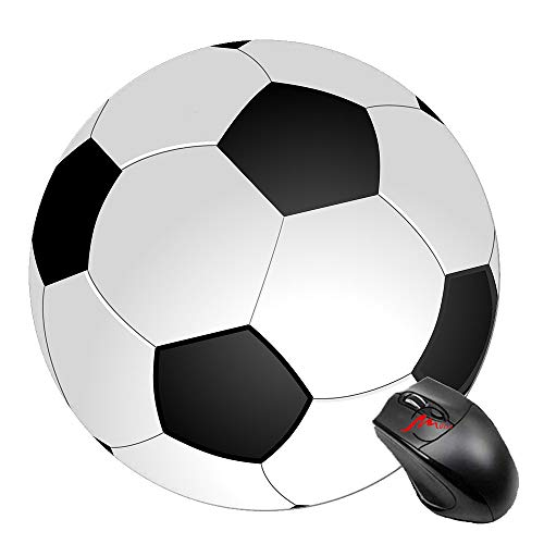 ZMvise Love Soccer Ball Round Mouse Pad Rubber Gaming Mousepad 7.5 Inches