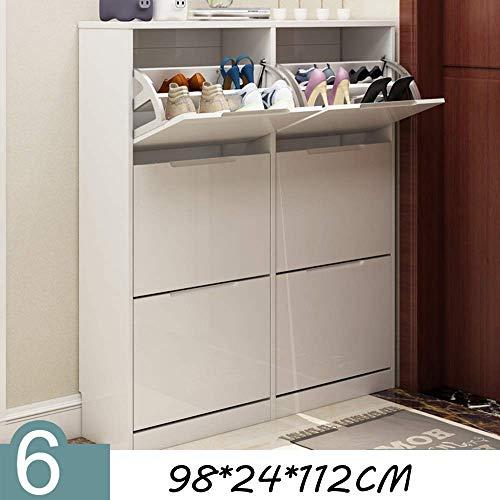 YLCJ Schoenrek Slim Schoen Geschilderde Emmer Schoenkast Moderne Eenvoudige Grote Grote Capaciteit Open Haard Locker Console Meubilair 98 * 24 * 112CM Schoenendoos (Kleur: B)
