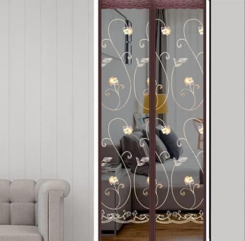 ALIHONG Fly Screen Door, Magnetic Fly Screen Door, Mosquito Net, Easy to Attach, Translucent Magnetic Curtain for Balcony Door Living Room Door No Drilling Required (100 x 200 cm,1)
