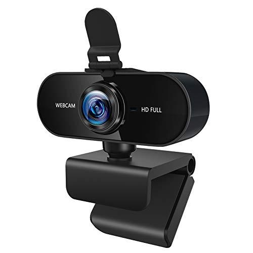 Agedate Webcam PC 1080P Full HD mit Mikrofon Datenschutz Abdeckung Plug and Play Web-Kamera Autofokus, Belichtungskorrektur, für Live-Streaming, Videoanruf, Konferenz, Online-Unterricht