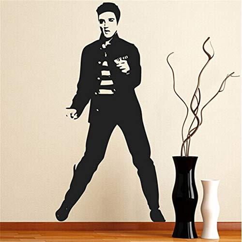 wandaufkleber blumen weiß Elvis Jailhouse Rock Poster Wand Jahrgang Wohnkultur