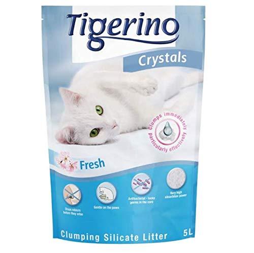 Tigerino Crystals Fresh - Arena para gatos aglutinante