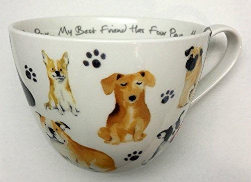 Portobello by Inspire Dog - My Best Friend has Four Paws Mug | Bone China | Designed in England