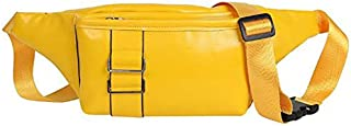 TOOGOO Korean Version Of the New Solid Color Personality Chest Bag Fashion Wild Wind Girl Messenger Bag Yellow