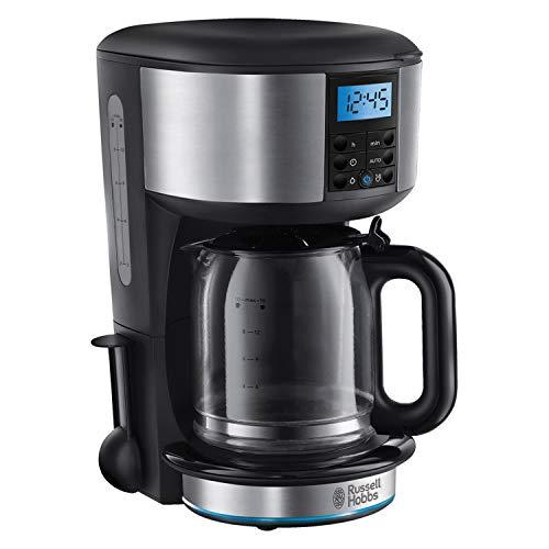 Russell Hobbs Buckingham 20680 - Cafetera con filtro (1,25 L), color negro y plateado