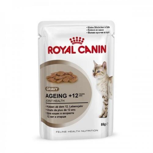 Royal Canin Health Nutrition Ageing + 12 - Bolsa de comida fresca (12 x 85 g, para gatos y gatos)
