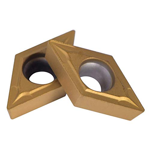 10pcs Diamantform Hartmetall-Einsatzschneider für regelmäßige Edelstahl-Maschinen-Drehmaschine Fräswerkzeug Außengewindeschneiden mit Fall DCMT11T304-HM YBC251